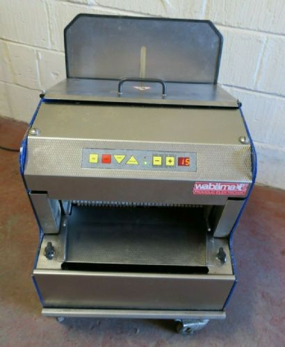Wabama 380.10 Piccolo Elektronik Automatic Rye 10mm Bread Loaf Slicer Bakery 1Ph